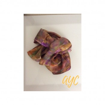 Hand Painted Silk Scarf In Autumn Shades