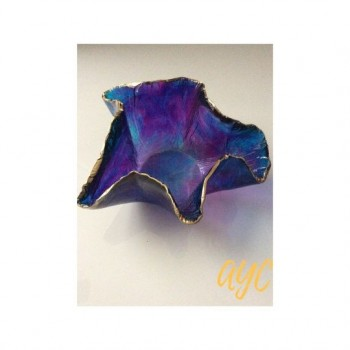 Acrylic Small Dish in Shades of Blue and Purple