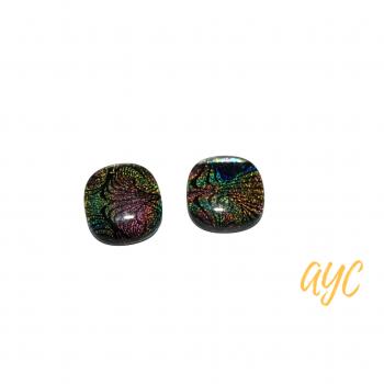 Dichroic Rainbow Glass Earrings