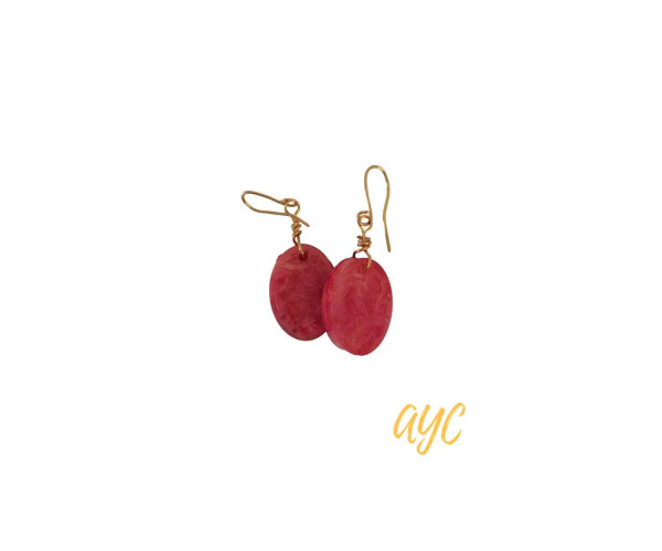Red and Yellow Resin Swirl Earrings