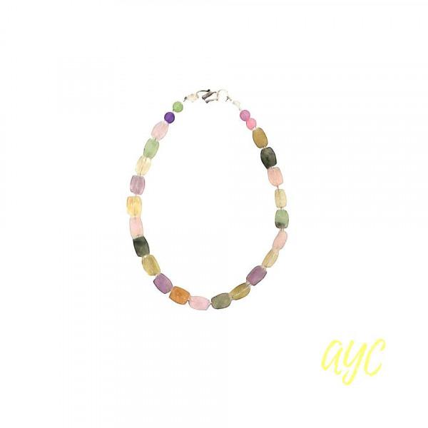 Choker Necklace Multicolor Fluorite